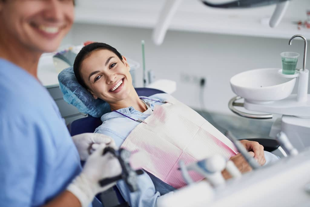 BowerDental WomanVisit happy
